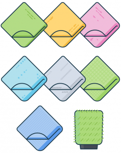 clean microfiber towels